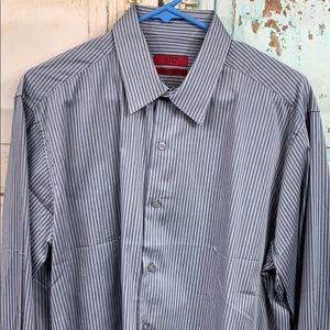Alfani Fitted Performance Dress Shirt Size Large